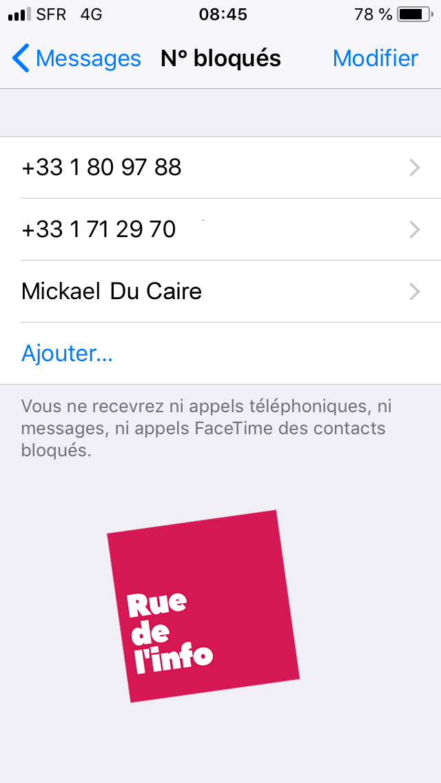 Comment bloquer un contact sur un iPhone ? - rue de l'info