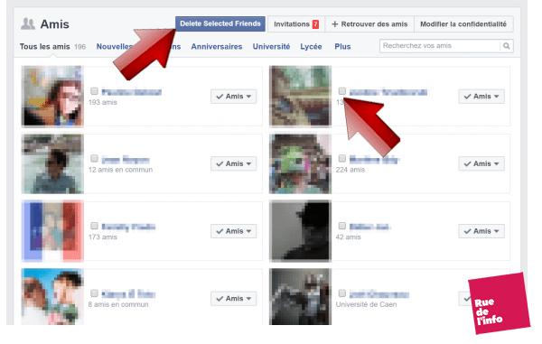 affichage case a cocher facebook friends Xterminator