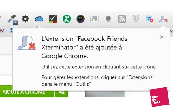 confirmation installation facebook friends Xterminator