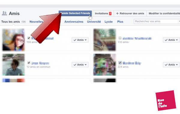 suppression amis facebook friends Xterminator - rue de l'info