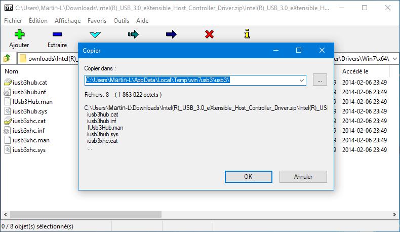 Extraire pilote USB 3.0 - Rue de l'info