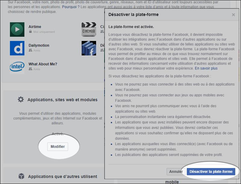 Facebook : comment empêcher les applications de voir vos données personnelles