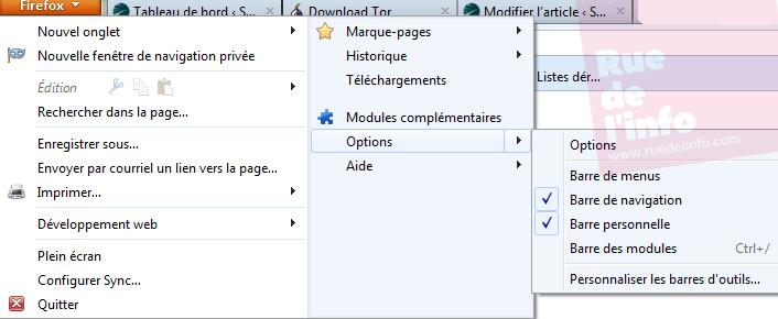 Configuration Firefox  Tor - Rue de l'info