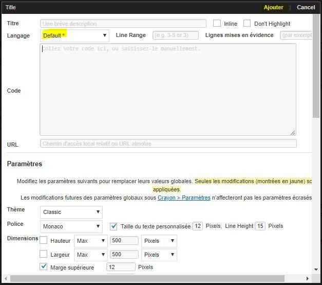 extension crayon syntax highlighter