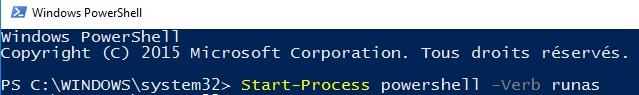 Executer PowerShell en mode administrateur - Windows 10