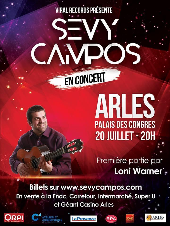 Sevy Campos Concer Arles le 20 juillet 2019