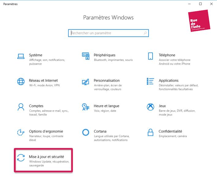 Installer Windows 10 Update May 2019 - Rue de l'info