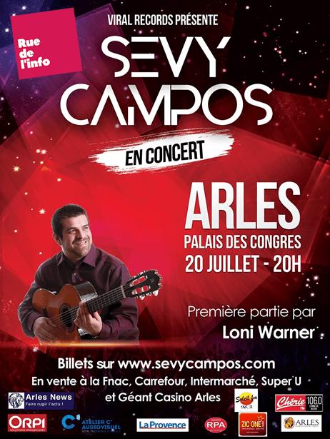 Concert Sevy Campos - Palais des Congrès d'Arles - Rue de l'info